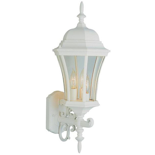 3 Light Outdoor Wall Mount 4503WH White