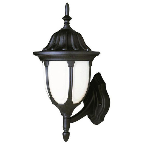 1 Light Black Outdoor Wall Mount 4041BK in black