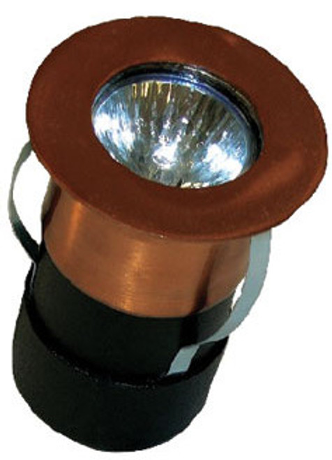 SL-37 MR16 Copper Recessed Deck Up & Down Light in unfinished copper
