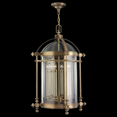 613282ST Portsmouth 6 Light Outdoor Lantern in antique solid brass finish