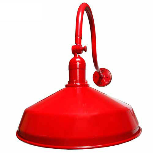 Red Metal Gooseneck Barn Lights - LED Vintage Barn Lighting - ADLXSV925