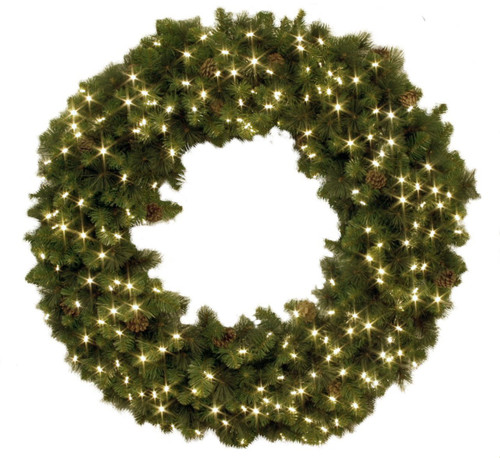"""36"""" Pre-Lighted Holiday Wreath"""