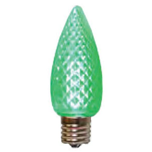 C9 LED Light Bulb in green