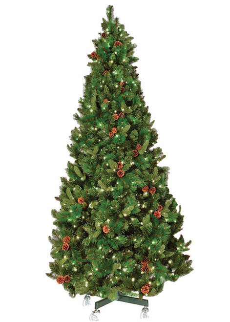 6' Pre-Lit Warm White Mini LED Oregon Pine Christmas Tree