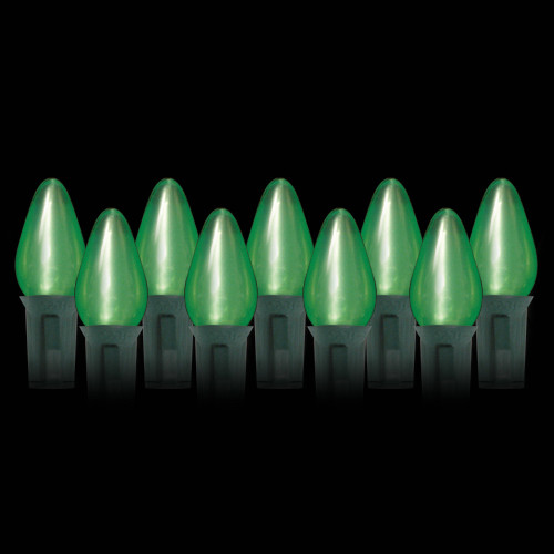 LED Green Opaque C7 Light Bulbs (25 count)