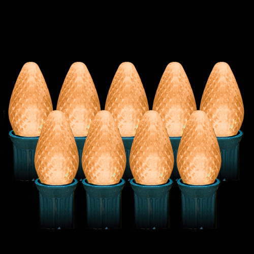 LED Orange Faceted C7 Light Bulbs (25 count)