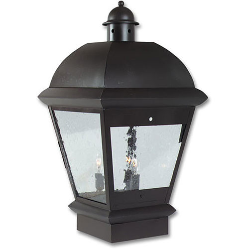 Pilaster Light XPC-060 in flat black finish and clear seedy glass