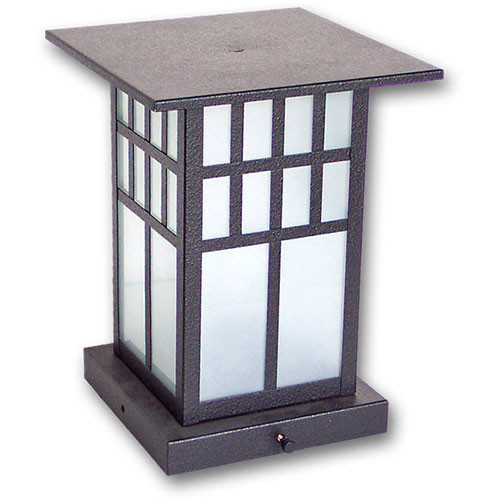 Pilaster Light XPC-308 in a textured black finish and sand blasted glass