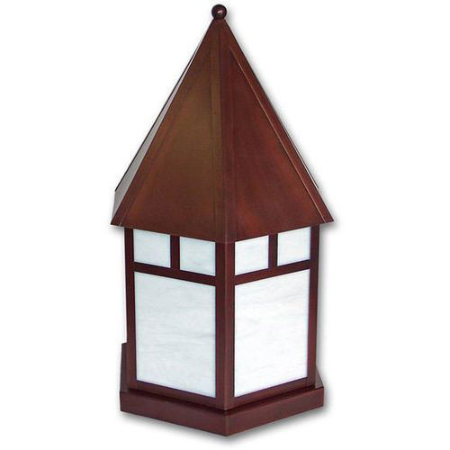 Pilaster Light XPC-394 in copper bronze finish and opalescent white glass