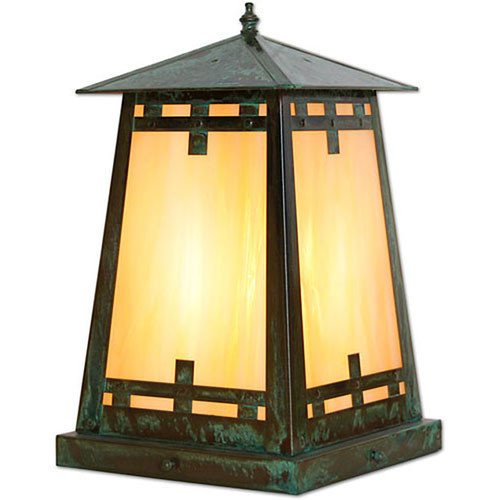 XPC-366 Pilaster Light in lustre bronze and honey glass