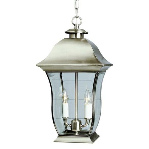 2 Light Solid Brass Outdoor Hanger 4975BN Brushed NIckel