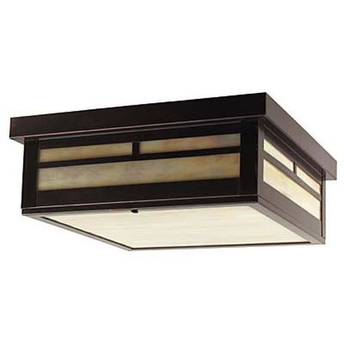 XPC-015 Ceiling Light in old bronze and honey glass
