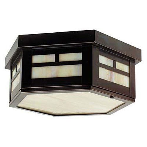 XPC-017 Ceiling Light in old bronze and honey glass