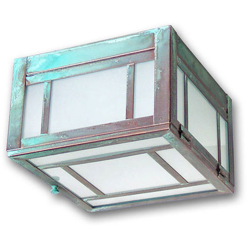 XPC-213 Ceiling Light in verde finish and opalescent white glass