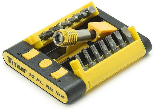 15 Bit Socket Set with Auto Lock Bit Holder