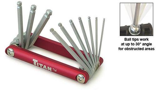 3 Piece Folding Key Set Kit C12711 Red