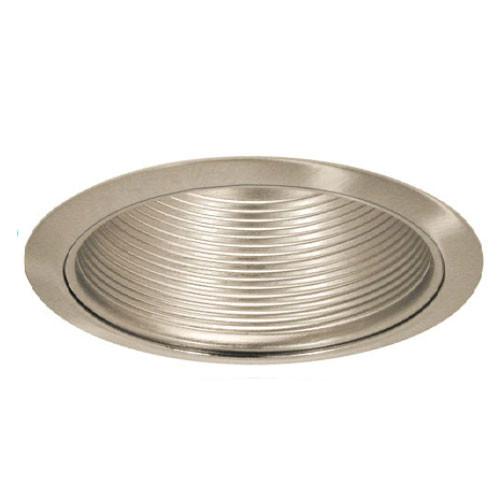 Shown with Satin Nickel Baffle / Satin Nickel Trim Ring