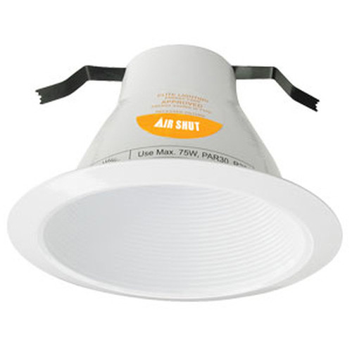 "120v 6"" AirShut Baffle Recessed Lighting Trim White"
