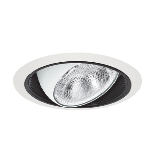 "White 120V 6"" PAR30 Recessed Adjustable Eyeball Baffle Trim - C430"