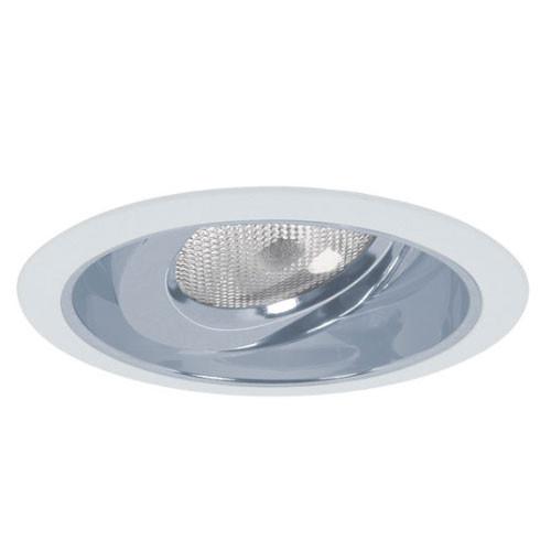 """White 120V 6"""" PAR30 Reflector w/ Adjustable Gimbal Trim - C683"""