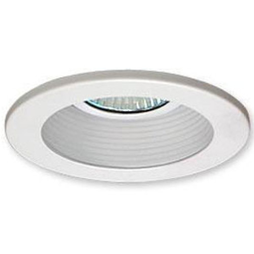 "White 12V 3"" Adjustable Stepped Baffle Trim - C3777"