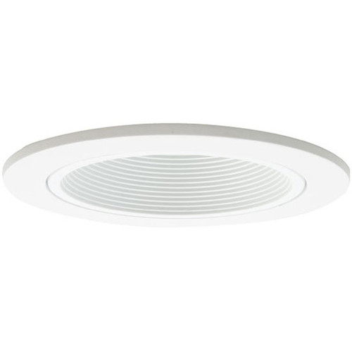 "120V 4"" Phenolic Step Baffle White"