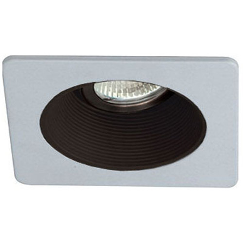 "12V 3"" Adjustable Square Baffle Trim B1378 White on Black"