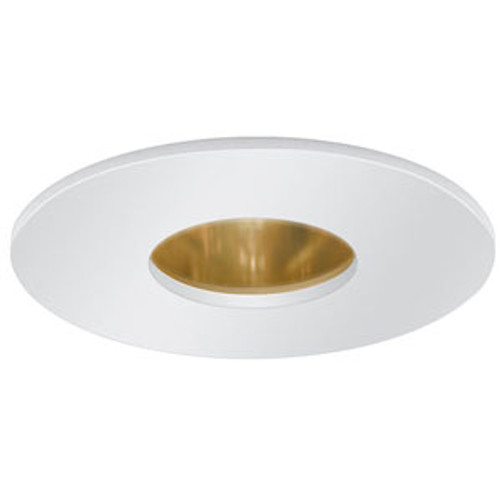 "12V 3"" Pinhole Trim with Reflector White on Gold"