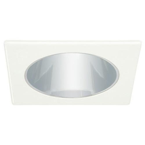 "White 120V 4"" PAR20 Square Reflector /w Socket Bracket C474"