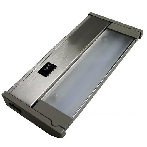 Dimmable LED Cabinet Light Shown in Satin Nickel