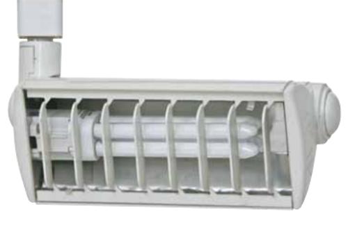 120v Compact Fluorescent Track Fixture White CTPL1X26
