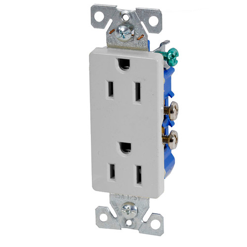 Aspire Tamper Resistant Screwless Duplex Receptacle