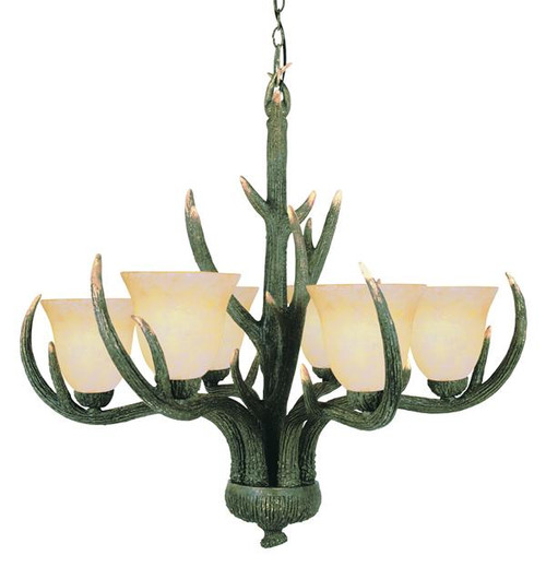 6 Light Rustic Antler Chandelier 7086RDA