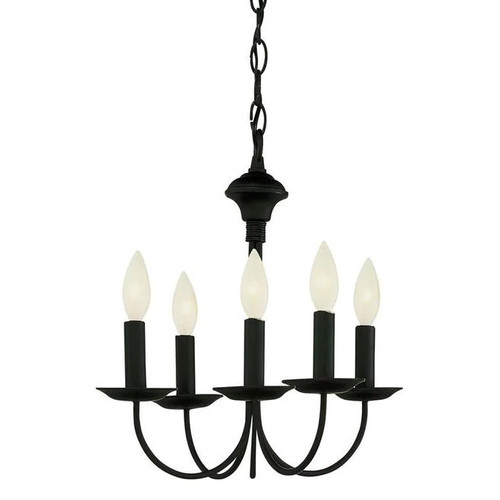 5 Light Black Chandelier 9015BK