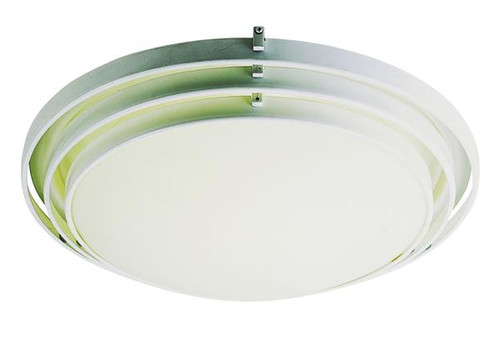 1 Light Contemporary White Ceiling Fixture 2483WH
