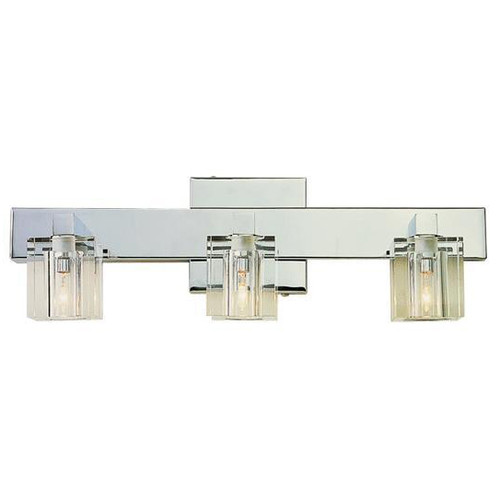 3 Light Chrome Crystal Halogen Bath Sconce 2843PC