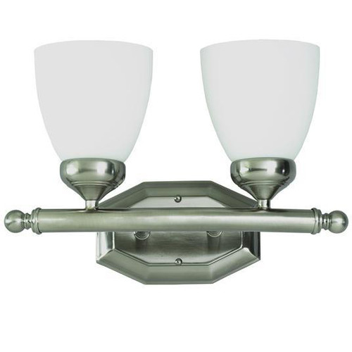 2 Light Antique Nickel Bath Sconce 2512AN