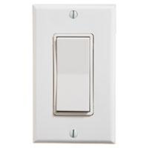 Single Rocker Wireless Switch (shown in white)