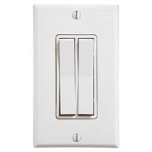 Dual Rocker Wireless Switch (shown in white)