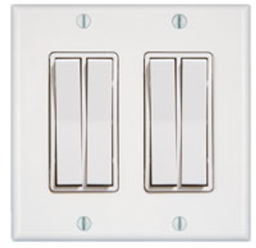 2 Gang 4 Rocker Wireless Light Switch