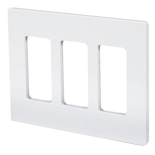 ASPIRE Triple Gang Screwless Wall Plate 9523 (shown in satin white)
