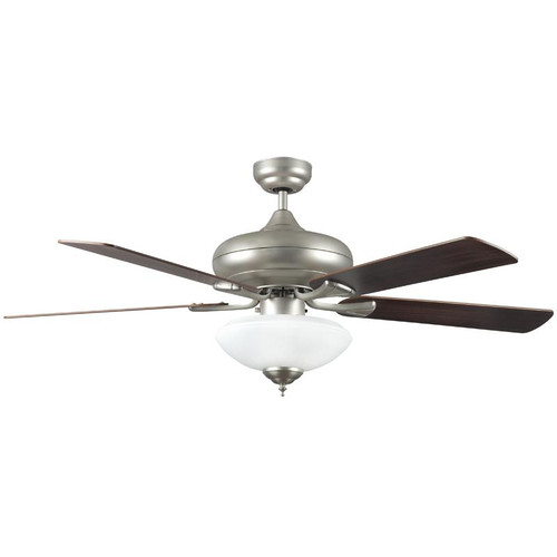 "52"" Valore Satin Nickel Ceiling Fan"