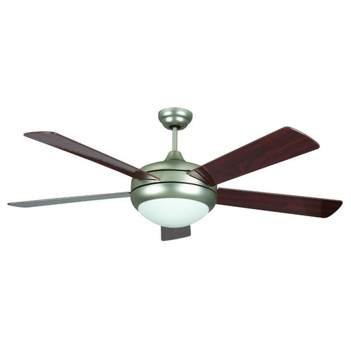 "52"" Saturn Fluorescent Satin Nickel Ceiling Fan"