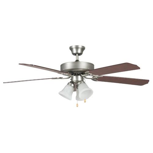 "52"" Heritage Home Satin Nickel Ceiling Fan"