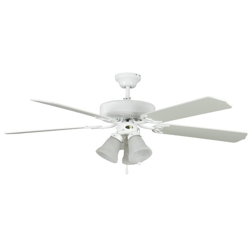 "52"" Heritage Home White Ceiling Fan"