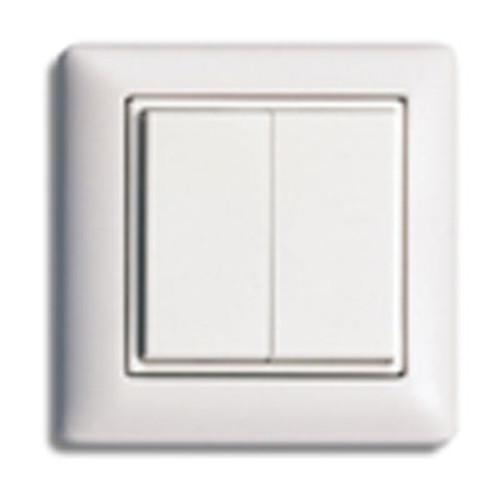 Rocker Light Switch >> European Style Self Powered Dual Rocker Wireless Light Switch Illumra