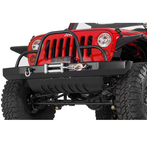 Bumper with Winch Mount, Brush Guard and D-Ring Mounts