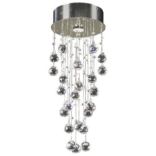 120V Designer Polished Chrome Ceiling Light - Beverly