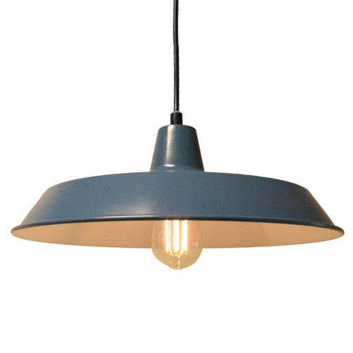 120V Commercial Grade Vintage Style Shallow Pendant Hanging Kitchen Light  with Edison Bulb