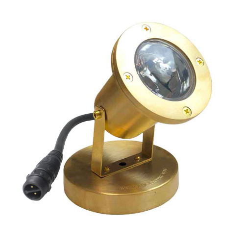 12V Underwater Brass Open Face Adjustable Submersible Pond Lighting w/ NSC - PUDX-L-77